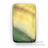Forme rectangle en nacre de Tahiti - 27 x 16 mm