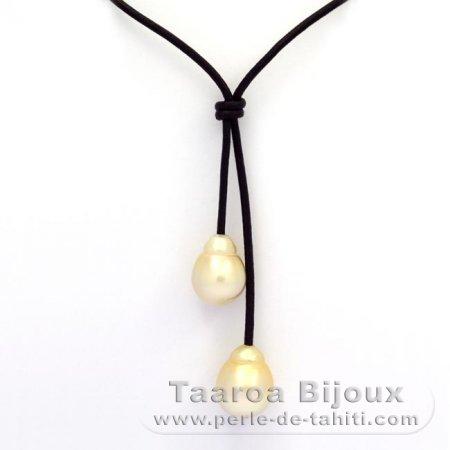 Cuir Et Collier C 6 Perles Baroques En 14 8 2 Semi 13 D'australie bfv7gIY6y