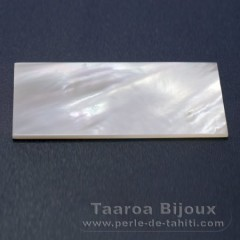 Forme rectangle en Nacre - 50 x 25 x 1 mm