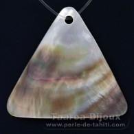 Dreieck Form aus Tahitiperlmutt - 40 x 44 mm