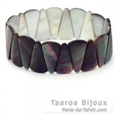 Bracelet en nacre de Tahiti - Diamètre = 6 cm