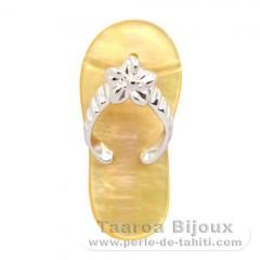 Anhänger Sandale aus Perlmutt und Silber