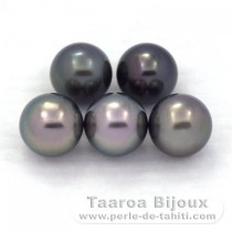 Lot de 5 Perles de Tahiti Rondes C 8.4 mm