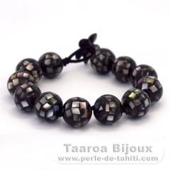 Tahiti madrepérola bracelete - Comprimento = 19 cm