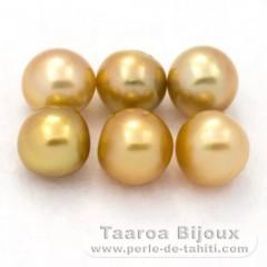Lot de 6 Perles Australiennes Semi-Baroques C de 8.5 à 8.9 mm