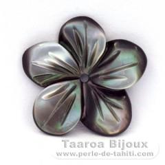 Blume aus TahitiPerlmutt - Durchmesser : 15 mm