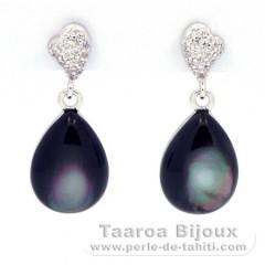 Sterling Silber .925 Ohrringe und Tahiti Perlmutt