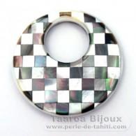 Runde Form aus Perlmutt - Durchmesser von 40 mm