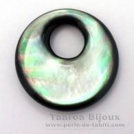 Forme ronde en nacre de Tahiti - Diamètre de 25 mm