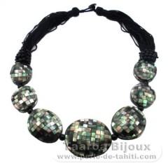 Tahiti Perlmutt Halsband - Länge = 55 cm