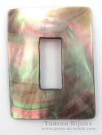 Rechteck Form aus Perlmutt - 40 x 30 x 1.5 mm