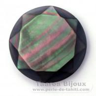 Runde Form aus TahitiPerlmutt - Durchmesser von 23 mm