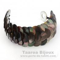 Bracelet en nacre de Tahiti - Longueur = 18 cm