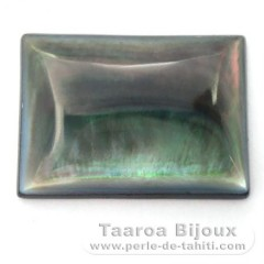 Tahitian mother-of-pearl rectangle shape - 25 x 18 x 4 mm