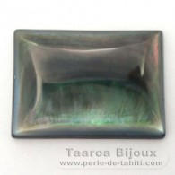Forme rectangle en nacre de Tahiti - 25 x 18 x 4 mm