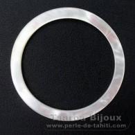 Runde Form aus Perlmutt - Durchmesser von 42 mm