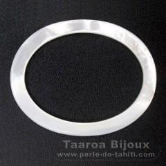 Forma ovalada en nacarado - 45 x 35 x 2 mm
