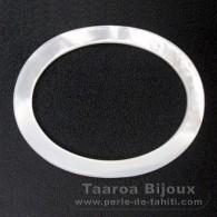 Forma oval em madrepérola - 45 x 35 x 2 mm