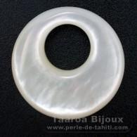 Forme ronde en nacre - Diamètre de 25 mm