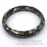 Tahitian Mother-of-pearl bracelet - Diameter = 6 cm