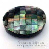 Forma nugget in madreperla - 37 x 30 x 13 mm
