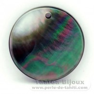 Runde Form aus TahitiPerlmutt - Durchmesser von 20 mm