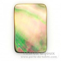 Forme rectangle en nacre de Tahiti - 30 x 20 mm
