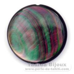 Forma redonda em madrepérola - Diâmetro de 30 mm