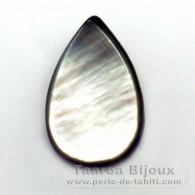 Tahitian Mother-of-pearl drop shape - 24 x 15 mm