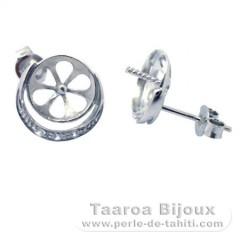 Brincos para pérolas de 8.5 a 12 mm - Prata .925 - Jóias para Pérolas