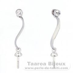 Ohrringe für Perlen von 8 bis 9.5 mm - .925 Silber - Juwelen für Perlen