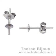 Boucles d'oreilles pour perles de 6 à 10 mm - Argent .925 - Apprêt Perles