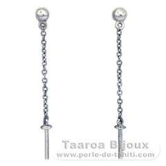 Ohrringe für Perlen von 7 bis 9.5 mm - Silber
