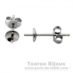 Earrings for pearls from 6 to 10 mm - Silver .925