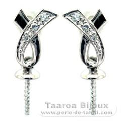 Ohrringe für Perlen von 8 bis 10 mm - .925 Silber