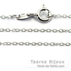 Kette aus Silber Rhodium - Länge = 50 cm / Durchmesser = 1.3 mm