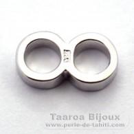 Anneau double - Argent - Longueur = 10.9 mm