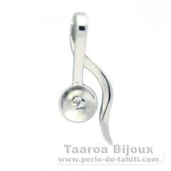 Colgante de Plata .925 para 1 Perla de 8 a 9.5 mm