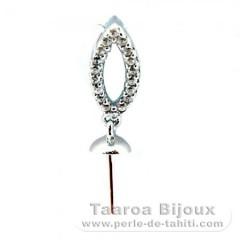Colgante de Plata .925 para 1 Perla de 10.5 a 13.5 mm
