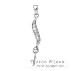 Colgante de Plata .925 para 1 Perla de 9 a 12 mm
