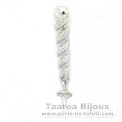 Colgante de Plata .925 para 1 Perla de 8 a 10 mm