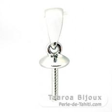 Ciondolo in Oro bianco 18K per 1 Perla di 10 a 15 mm
