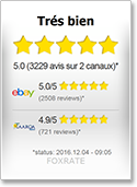 Evaluations reçues de mes clients sur Foxrate & eBay